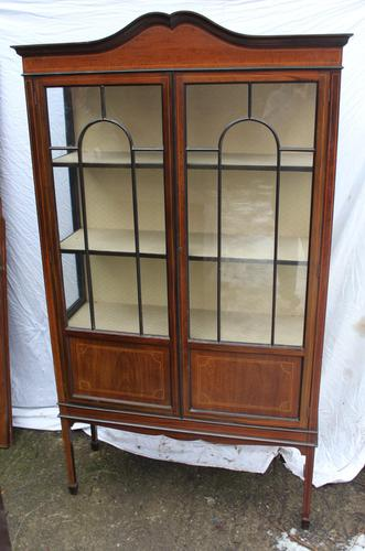 1900s Mahogany 2 Door China Cabinet with Dome Top (1 of 5)