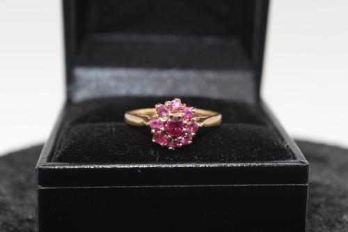 9ct Gold & Ruby Ring, size J, weighing 2.4g (1 of 4)