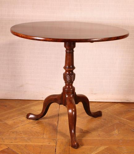 English Tripod Table in Mahogany Early 19th Century (1 of 6)