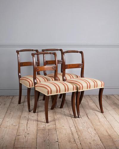 Set of 4 Regency Mahogany Dining Chairs (1 of 4)