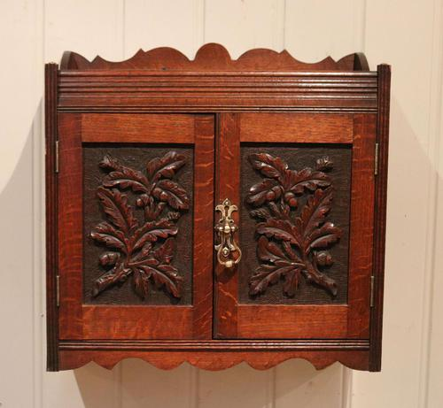 Victorian Carved Wall Cabinet (1 of 9)
