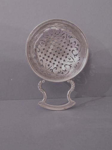 Antique Silver George II Lemon or Punch Strainer (1 of 6)