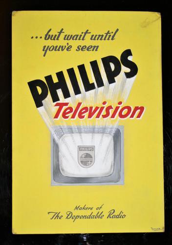 Philips TV - Original Advertising Artwork c.1950 (1 of 11)