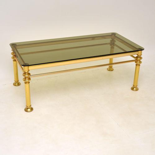 Vintage 1970's Brass & Glass Coffee Table (1 of 7)