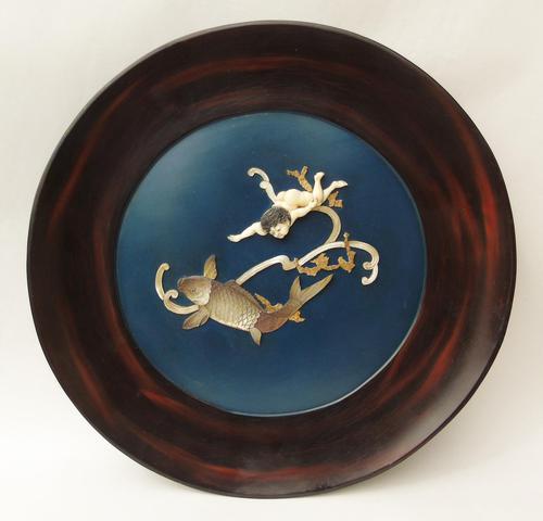 Rare Sibayama Plaque Japanese Meiji (1 of 8)
