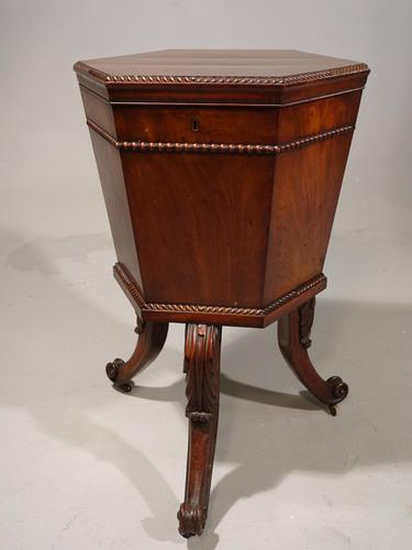 George III Period Hexagonal Mahogany Wine Cooler (1 of 6)