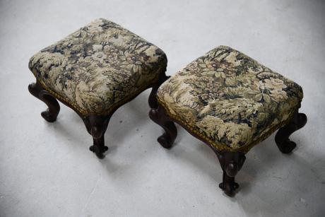 Pair of Antique Victorian Footstools (1 of 11)