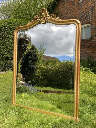 Large French Rococo Gilt Mirror (1 of 5)