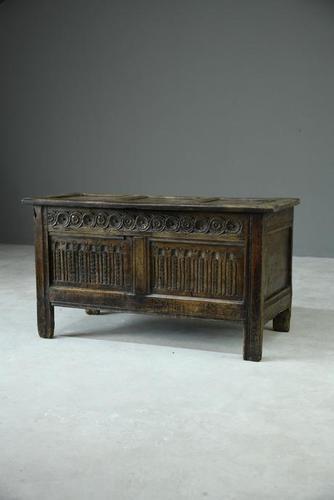 Charles I Oak Panel Chest (1 of 10)