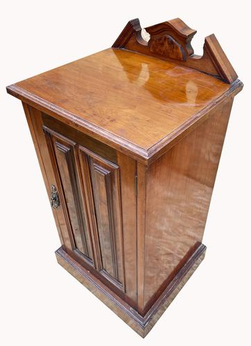 Good Quality Victorian Walnut Bedside Cabinet (1 of 5)