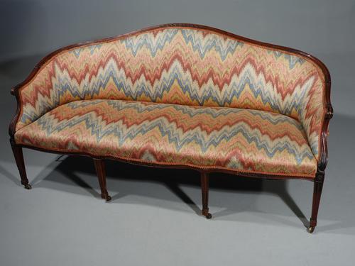 Shapely & Elegant Mid 19th Century Camelback Sofa (1 of 5)