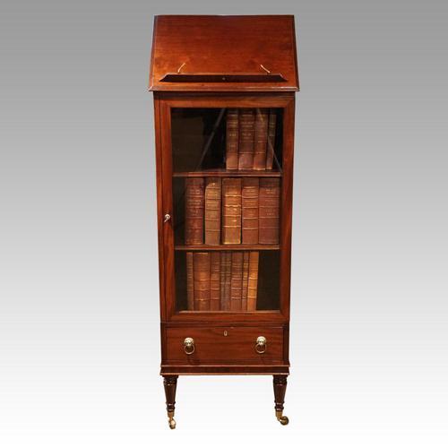 Regency Mahogany Library Cabinet (1 of 10)