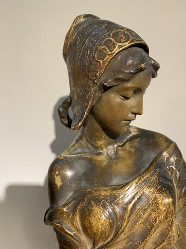 19th Century Large Terracotta Sculpture By Frederic Goldscheider (1 of 6)