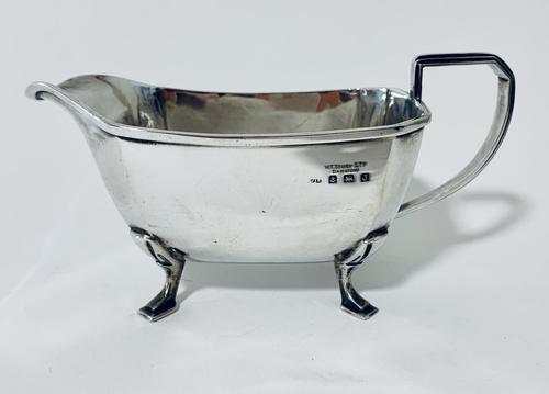 Antique Solid Sterling Silver Gravy Boat Jug (1 of 13)