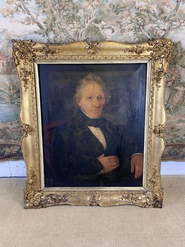 19th Century Portrait of Gentleman in Gilt Frame (1 of 5)