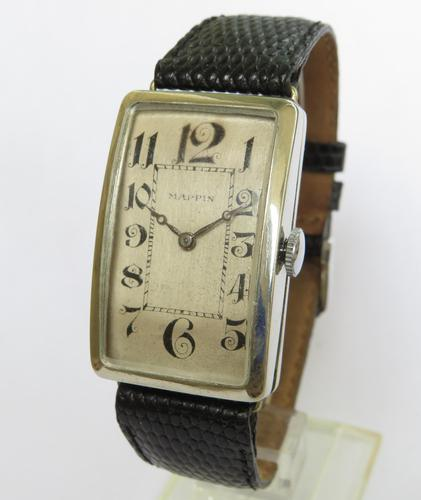 Gents Large 1930s Art Deco Wrist Watch for Mappin (1 of 5)