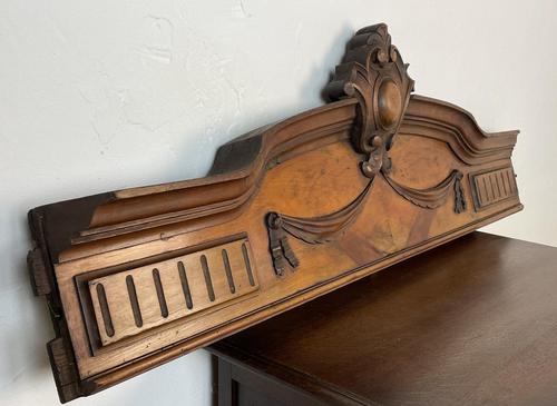 Antique French Pediment Walnut Panel Architectural Salvage Ceil De Lit (1 of 9)