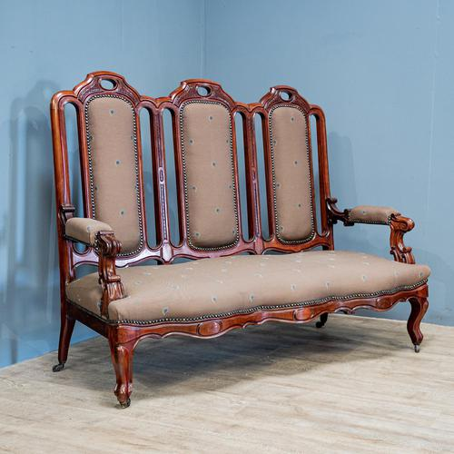 Mahogany Carved Couch (1 of 9)