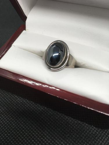Georg Jensen Sterling Silver Ring with Hematite (1 of 5)