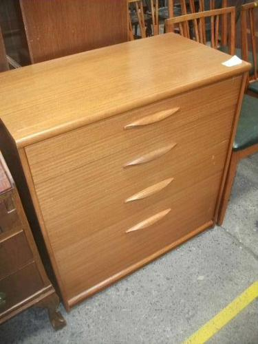 Mid Century Four Drawer Chest (1 of 3)
