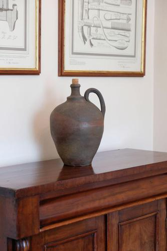 Ovoid form continental earthenware oil jars 295mm high (1 of 2)