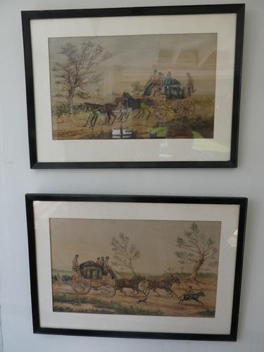 Pair Watercolours Coaching Scene (1 of 9)