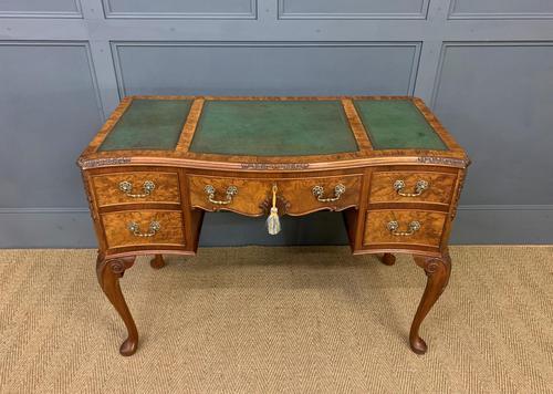 Good Queen Anne Style Burr Walnut Writing Desk (1 of 18)