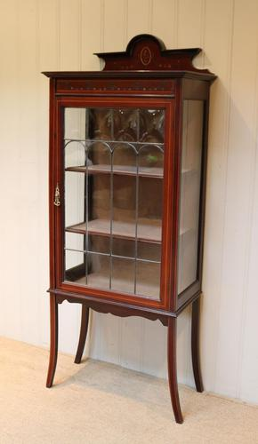 Edwardian Mahogany Display Cabinet (1 of 10)