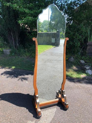 Antique Walnut Cheval  Dressing Mirror (1 of 8)