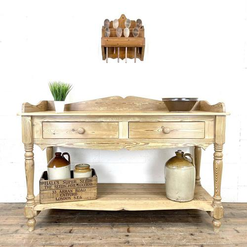 Large Rustic Pine Sideboard with Drawers (1 of 10)