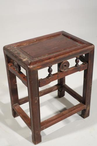 Well Carved Early 20th Century Small Stool / Table (1 of 2)