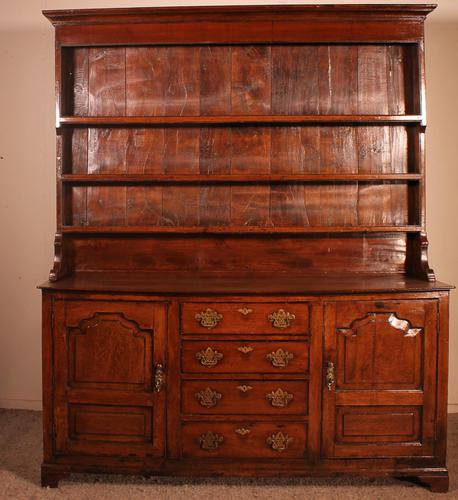 English Oak Dresser & Rack Early 18th Century (1 of 12)
