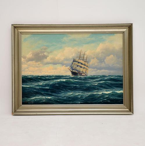 Antique Nautical Oil Painting (1 of 10)