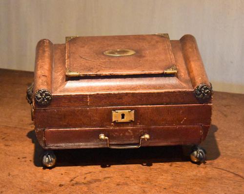 Fine Regency Leather Work Box (1 of 14)