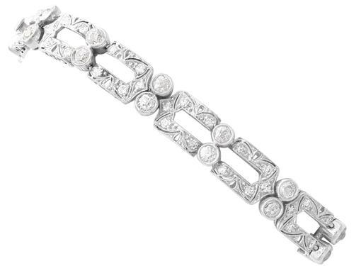 5.25ct Diamond & Platinum Bracelet - Art Deco c.1925 (1 of 12)