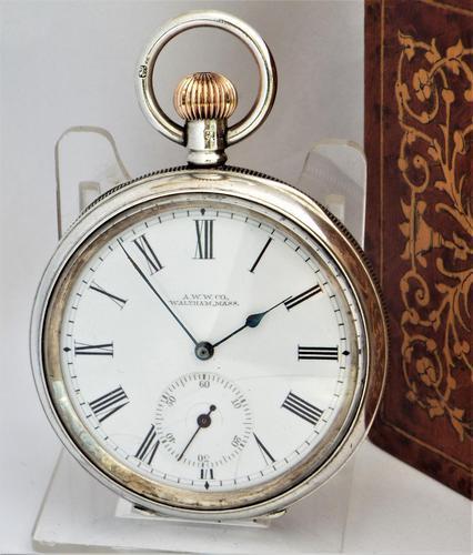 Antique 1911 Silver Waltham Bond Street Pocket Watch (1 of 5)