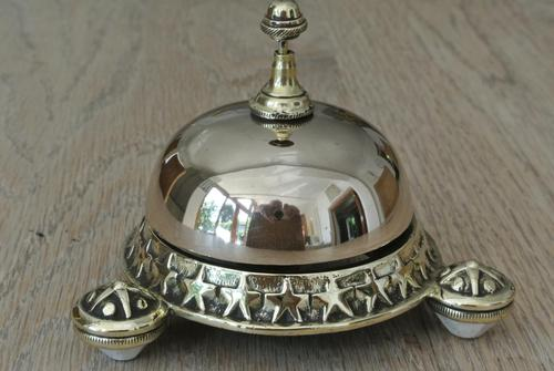 Rare Wilsons Patent 1884 Brass Counter Bell by William Tonks & Sons (1 of 8)