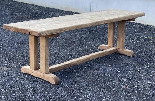 Large French Rustic Bleached Oak Farmhouse Dining Table (1 of 36)