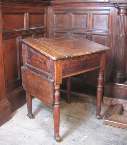 Antique pine school desk (1 of 5)
