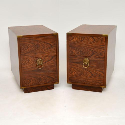 Pair of Military Campaign Style Rosewood Side Chests (1 of 10)