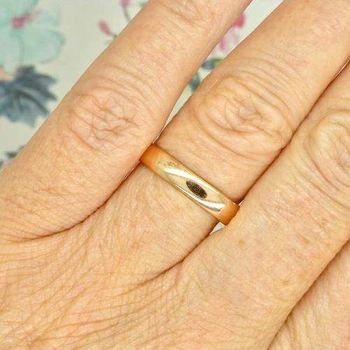 English Antique 9ct Rose Gold Wedding Band 1920's (1 of 10)