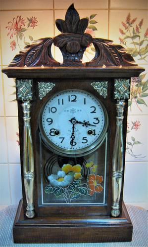 Rare 1895 Japanese Striking Shelf Clock by Takara (1 of 6)