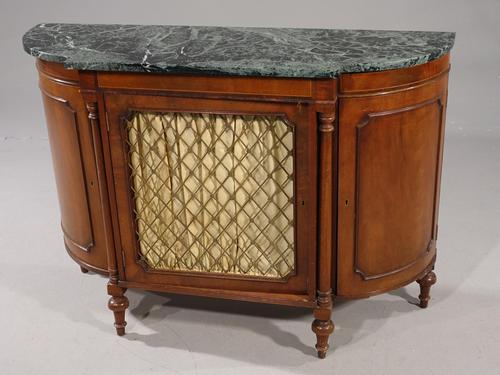 Attractive Early 20th Century Bow Ended Regency Style Mahogany Side Cabinet (1 of 5)