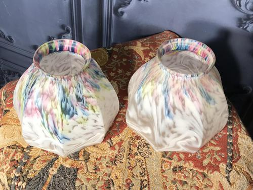 Pair of Edwardian Glass Light Shades (1 of 5)