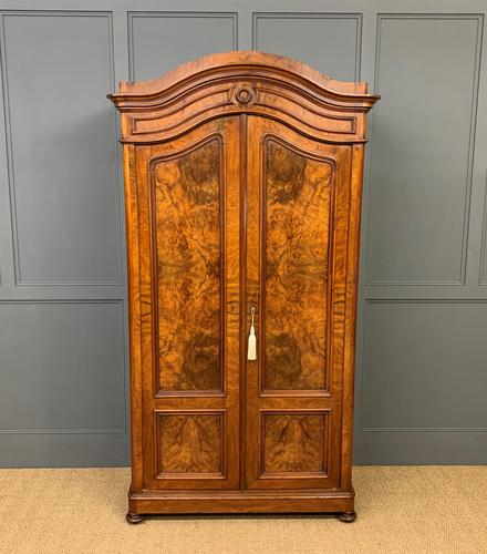 19th Century Burr Walnut Wardrobe (1 of 16)