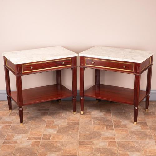 Pair of French Marble Topped Tables (1 of 14)