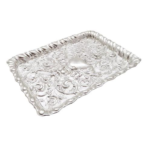 Antique Edwardian Sterling Silver Dressing Tray 1903 (1 of 7)