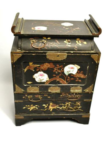 19th Century Japanese black lacquered Travelers Desk (1 of 7)