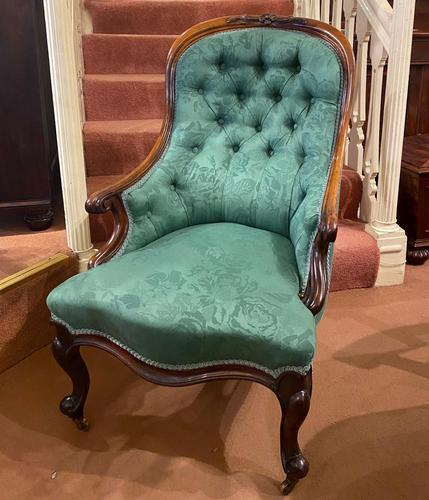 Mid Victorian Rosewood Library Armchair (1 of 5)