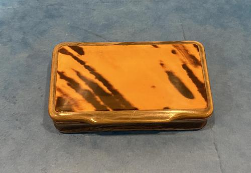 Victorian Horn & Tortoiseshell Snuff Box (1 of 13)